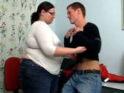He rams his BBW teacher from behind