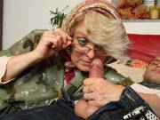 Granny looks sexy in her glasses